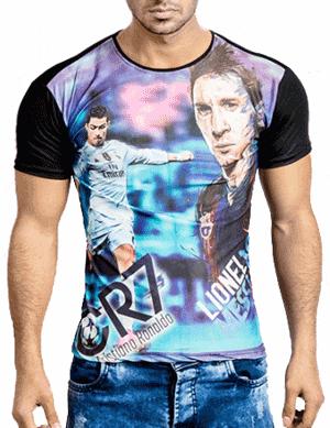 تیشرت طرح Messi & Ronaldo