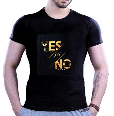 تی شرت مردانه طرح Yes or No