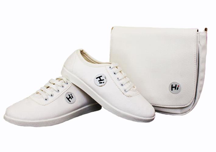 ست کیف و کفش Hi White