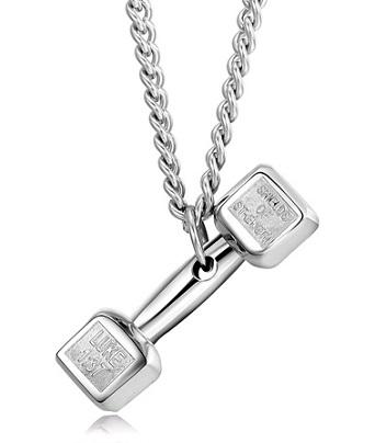 گردنبند لاکچری طرح دمبل Dumbbell Necklaces