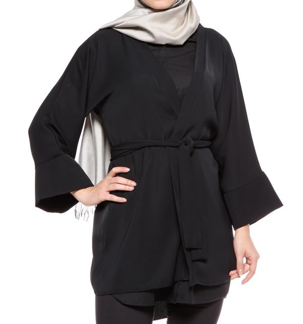 لیست قیمت دوخت لباس زنانه مانتو اورکت زنانه مشکی TUNCAY - لیست کالا
