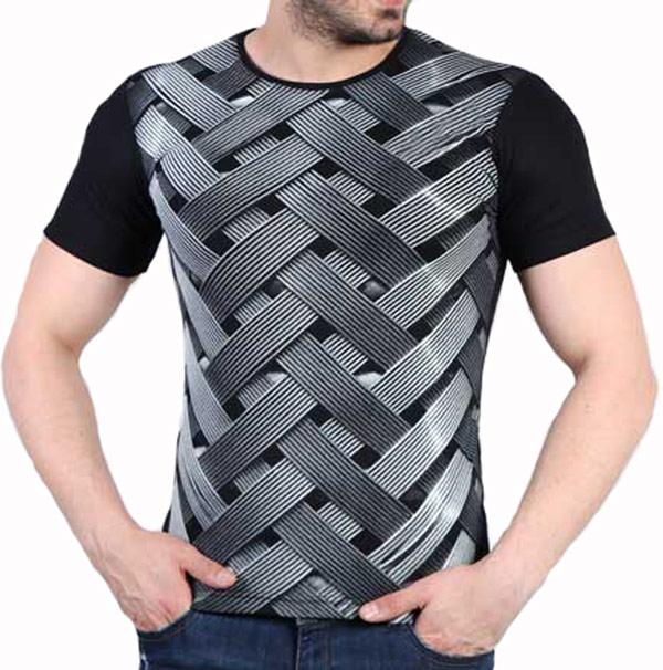 تیشرت آستین کوتاه سه بعدی طرح wicker