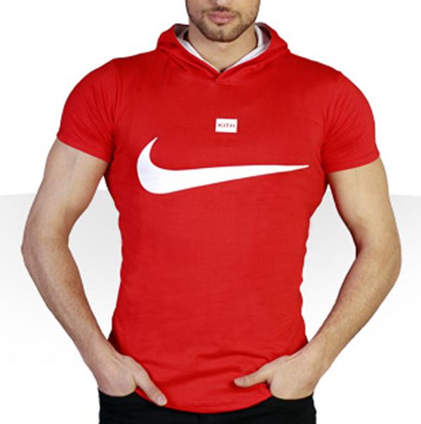 تیشرت کلاه دار Nike طرح Red