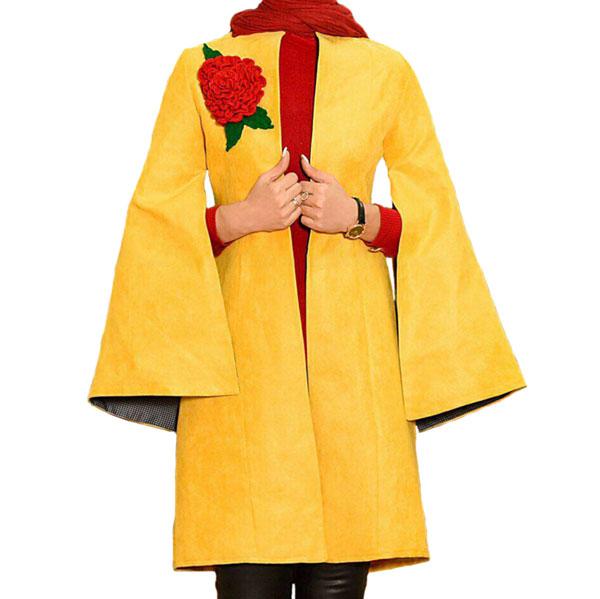 شنل سوییت تک گل دار خردلی برند مشهور