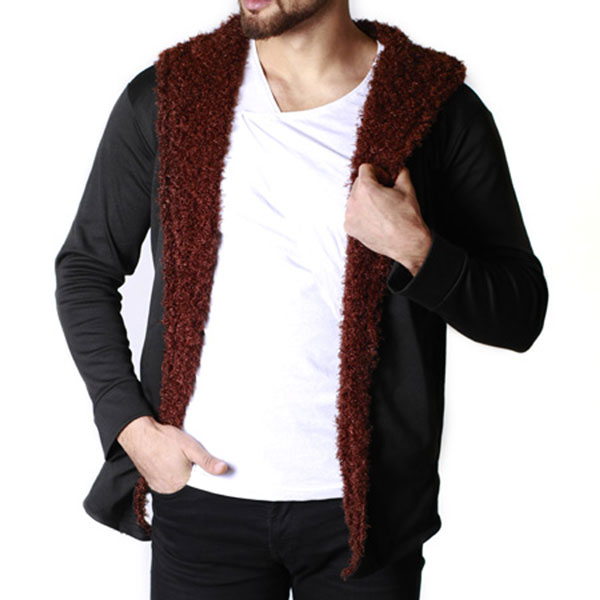 هودی خزدار مردانه Woolen